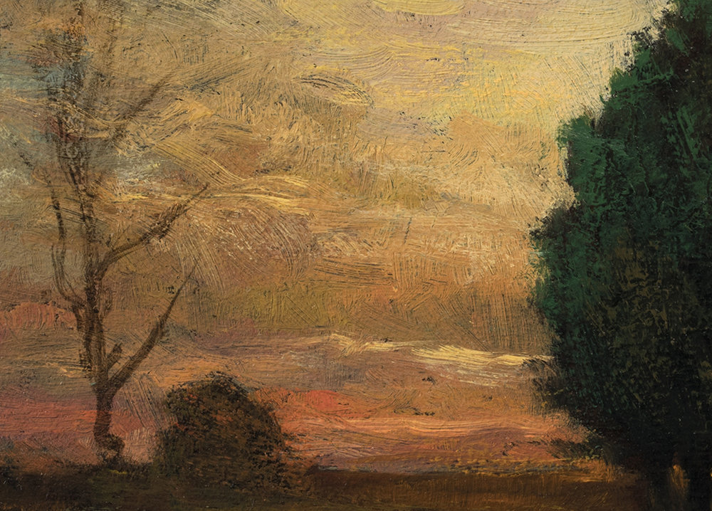 Study after John Enneking 'Tranquility at Sunset' by M Francis McCarthy - 5x7 (Detail)