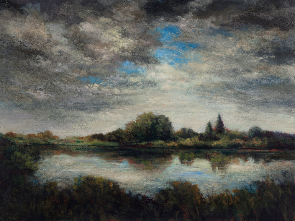 Afternoon Clouds by M Francis McCarthy - 12x16 Oil on Wood Panel