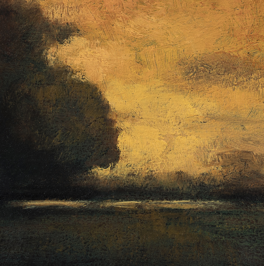 Study after: George Inness - Sunset at Milto by M Francis McCarthy (Detail)