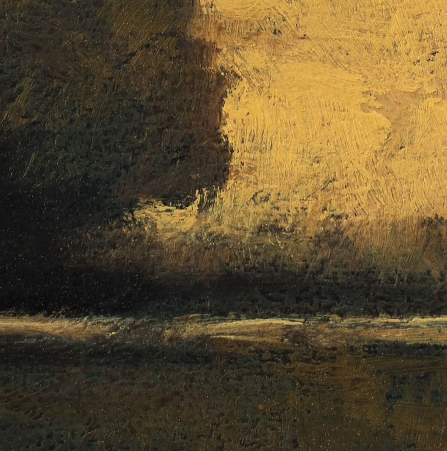 Study after: George Inness - Sunset at Milto by M Francis McCarthy (Detail 2)