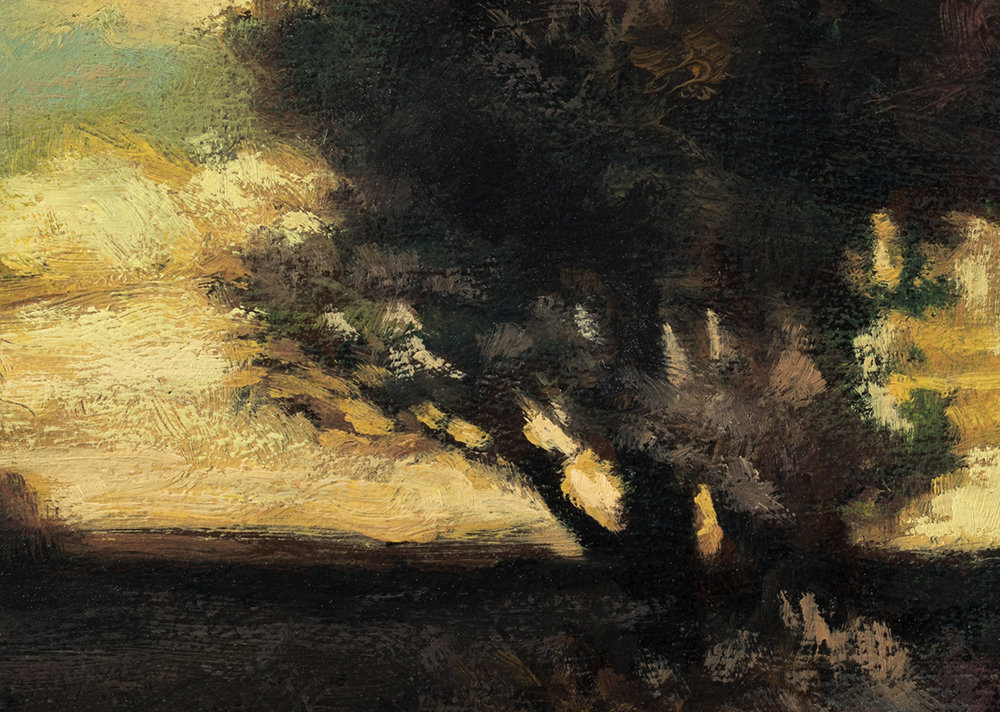 Study after: John Francis Murphy - Evening by M Francis McCarthy - 5x7 (Detail)