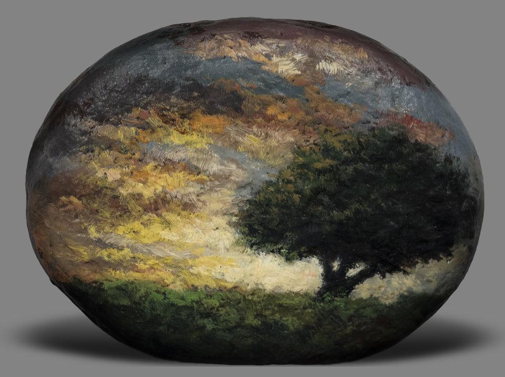 Twilight Rockby M Francis McCarthy - 2½x3 Oil on Wood Panel