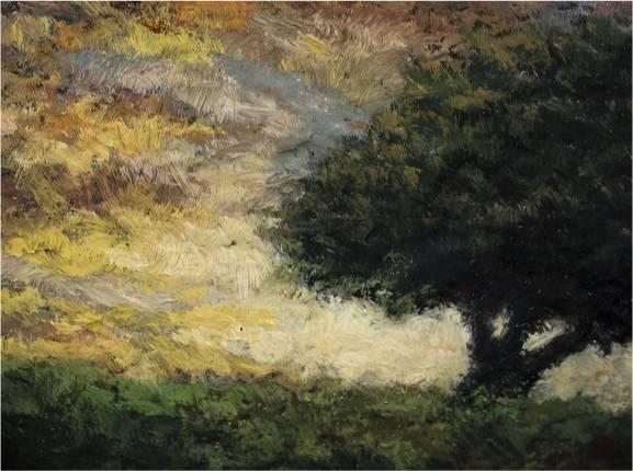 Twilight Rock by M Francis McCarthy - 2½x3 (Detail)