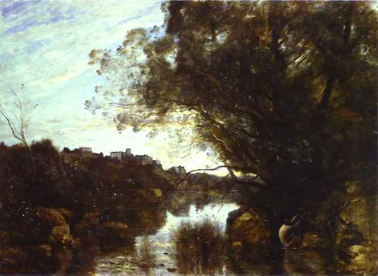 Camille Corot - Memory of Lake Nemi Original