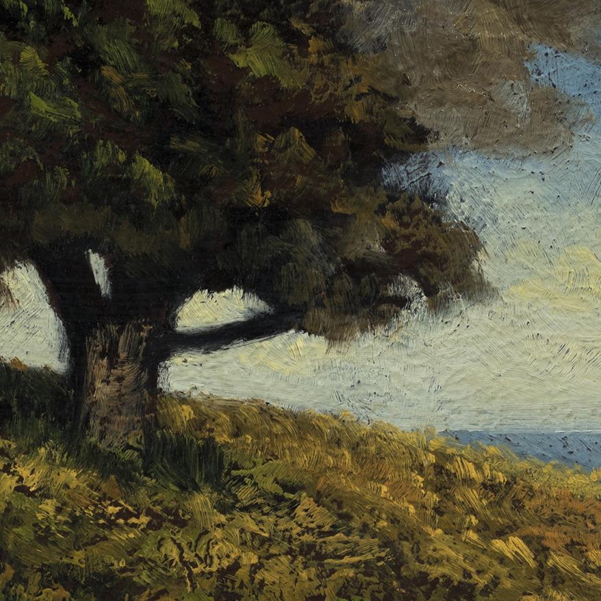 'Hill by the Sea' by M Francis McCarthy - 5x7 (Detail)