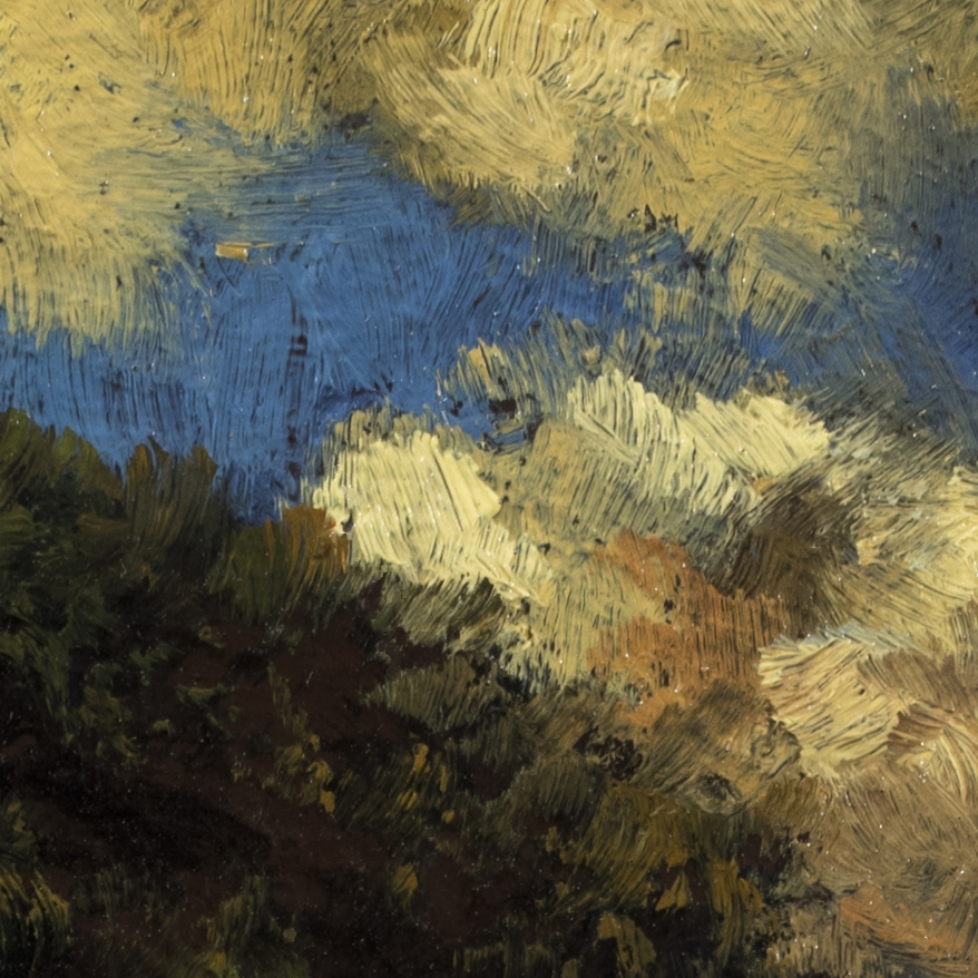 'Hill by the Sea' by M Francis McCarthy - 5x7 (Detail 2)