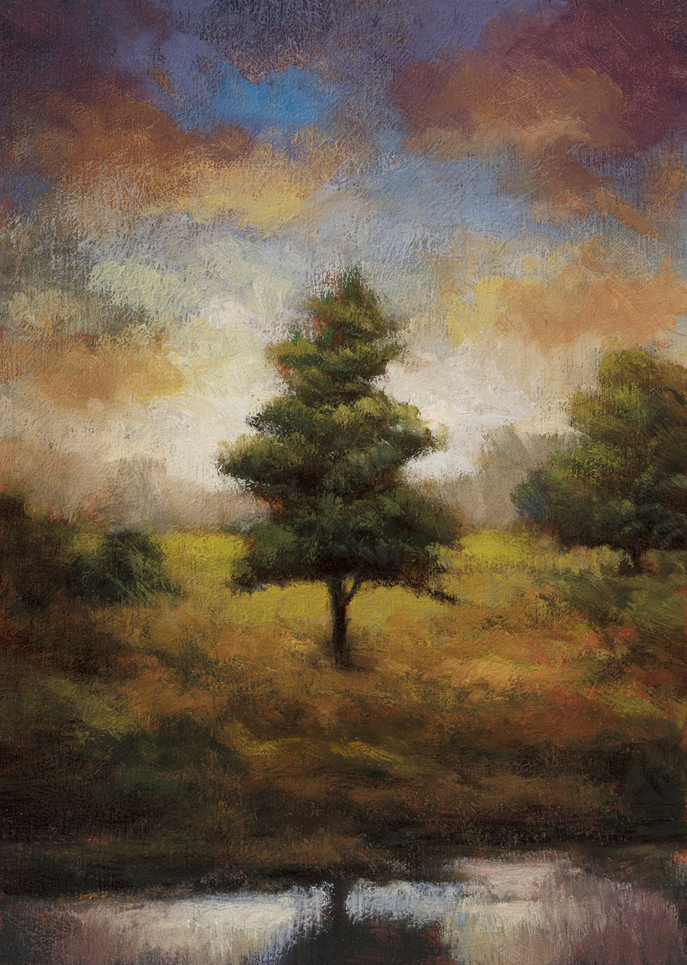 Long Shadows by M Francis McCarthy - 5x7 Oil on Wood Panel