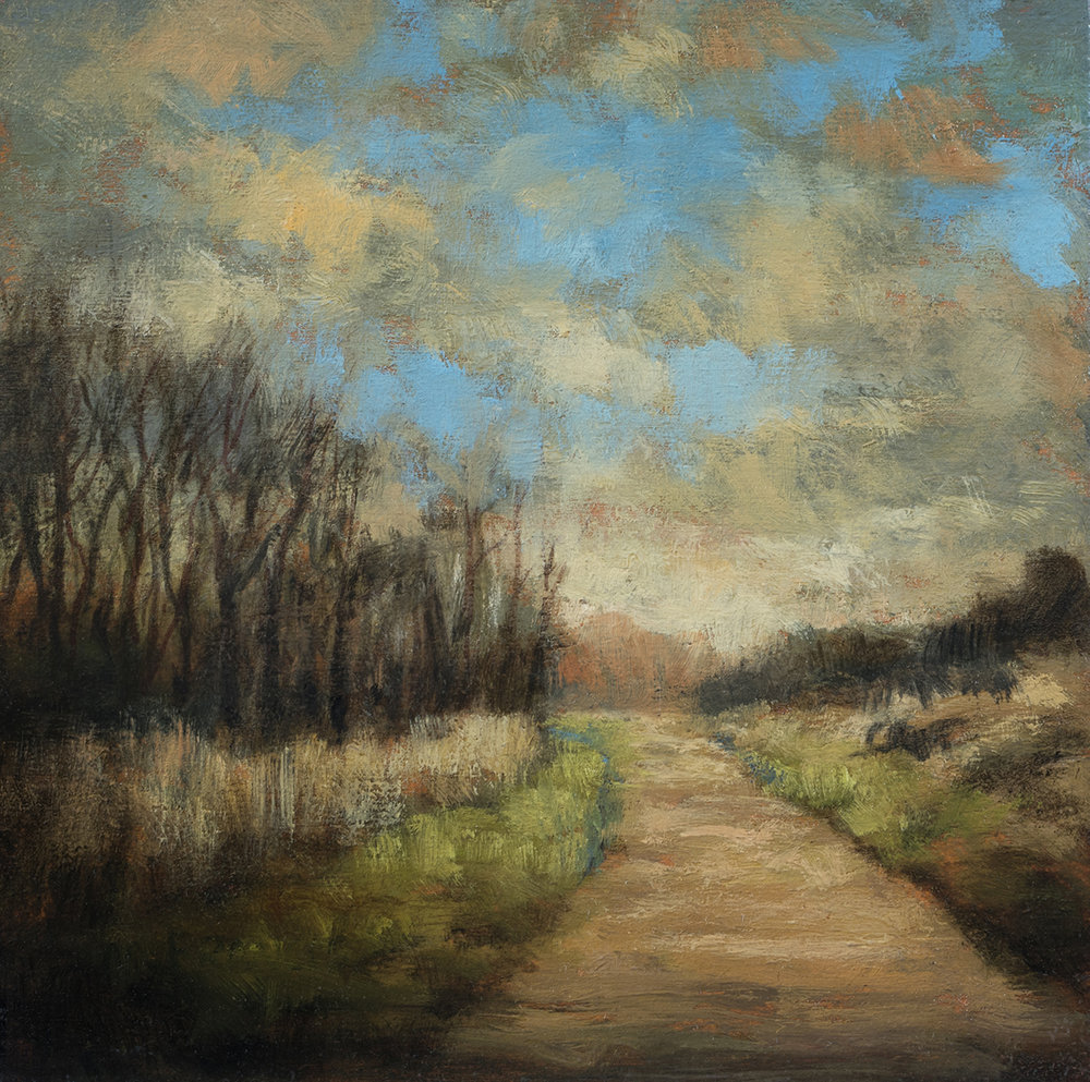 Old Road by M Francis McCarthy - 5x5 Oil on Wood Panel