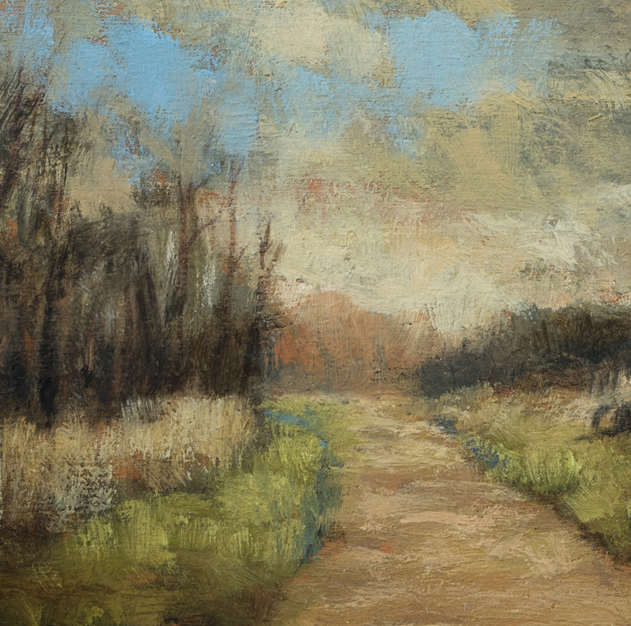Old Road by M Francis McCarthy - 5x5 (Detail)