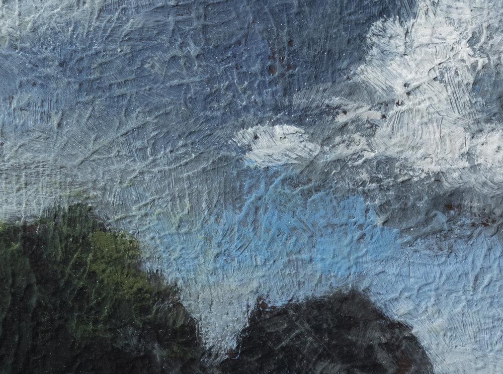 Cloudy Beach by M Francis McCarthy - 6x8 (Detail 2)
