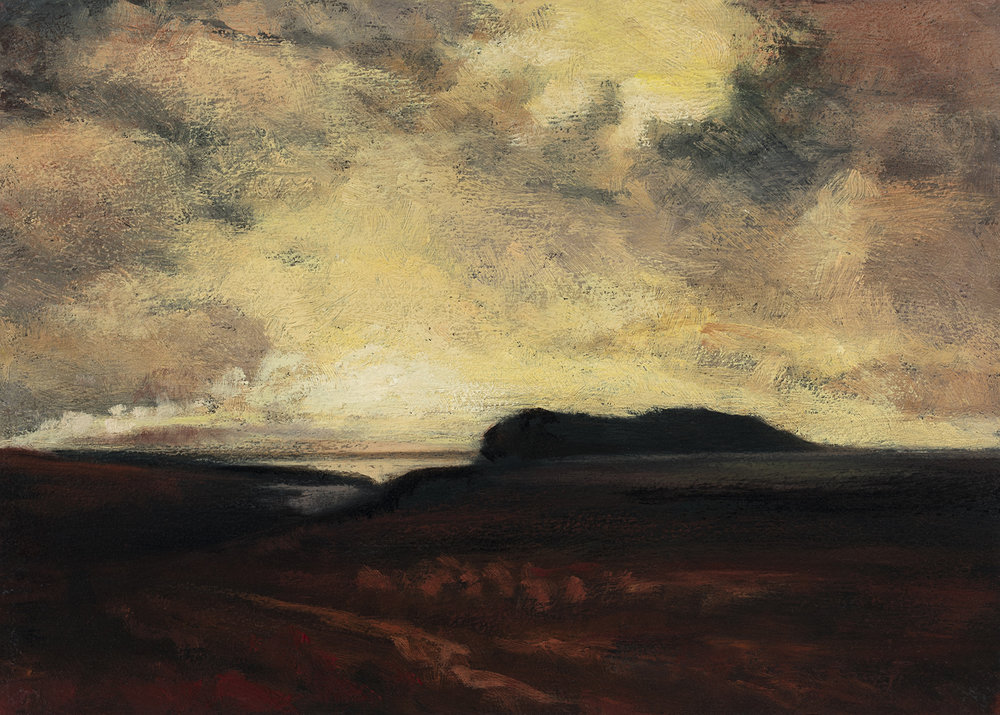Study after: George Inness The Stormby M Francis McCarthy - 5x7 Oil on Wood Panel