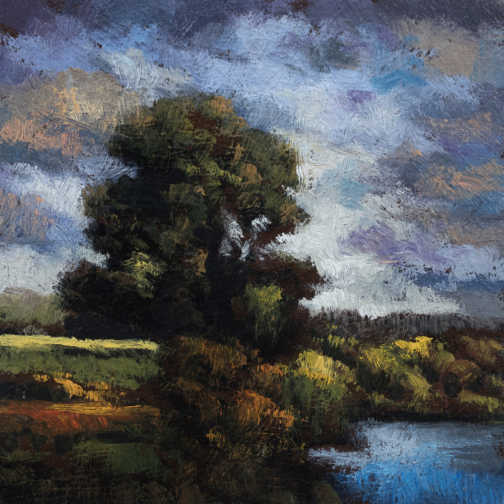 Arcadian Morning by M Francis McCarthy - 3½x3½ Oil on Wood Panel