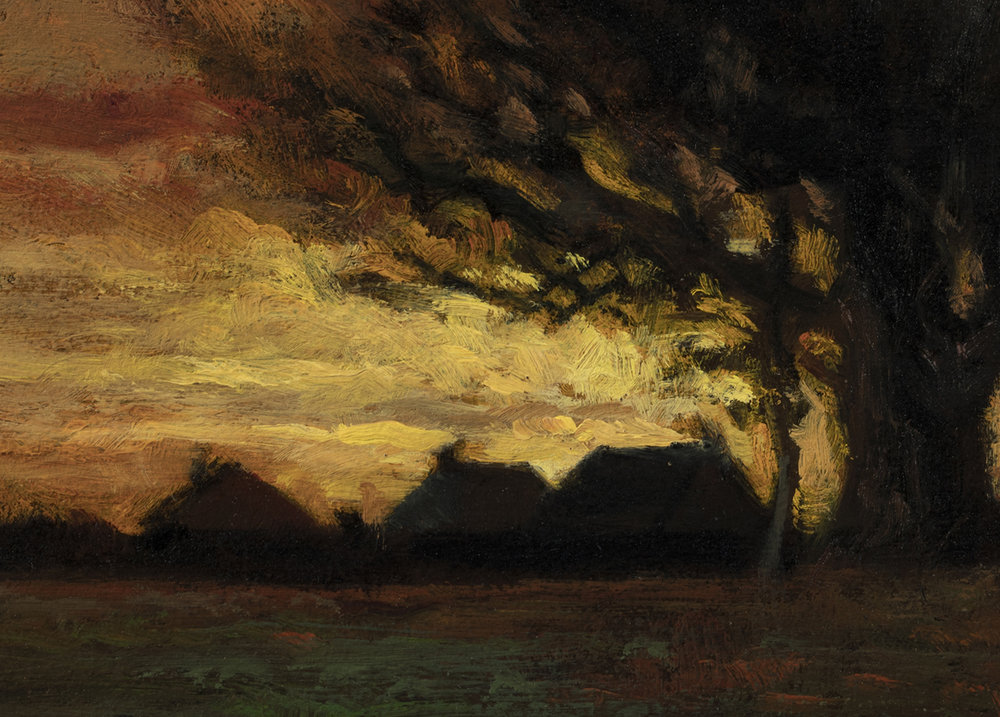 Study after: Charles Dewey - Landscape by M Francis McCarthy - 5x7 (Detail)