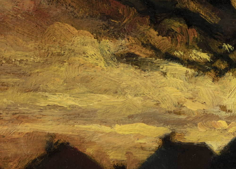 Study after: Charles Dewey - Landscape by M Francis McCarthy - 5x7 (Detail 2)