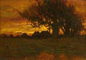 Charles Dewey - Landscape (Original)