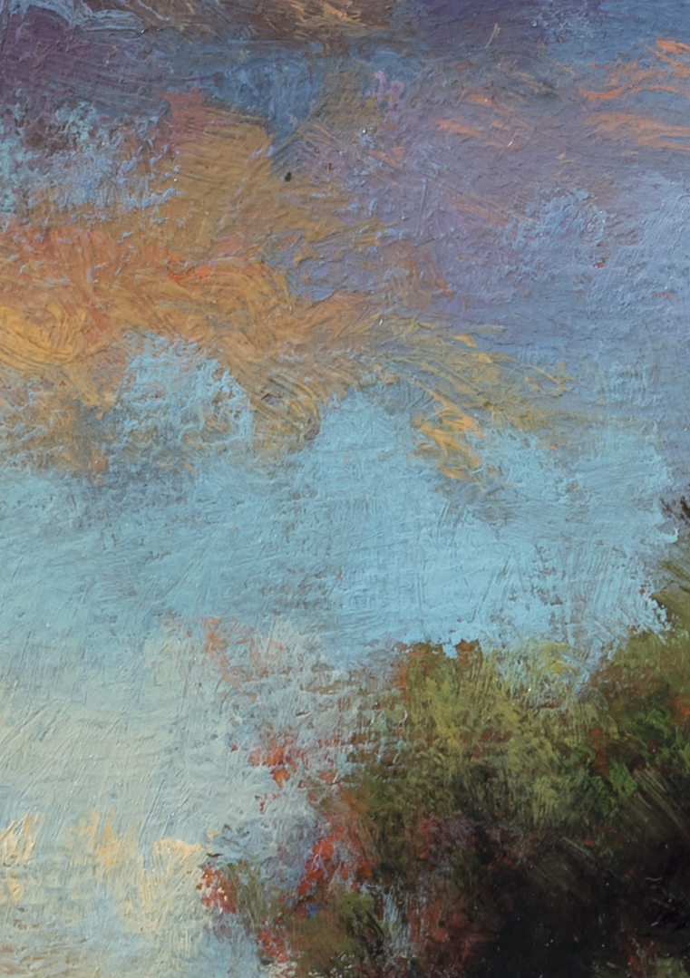 Sunset Paddock by M Francis McCarthy - 5x7 (detail)