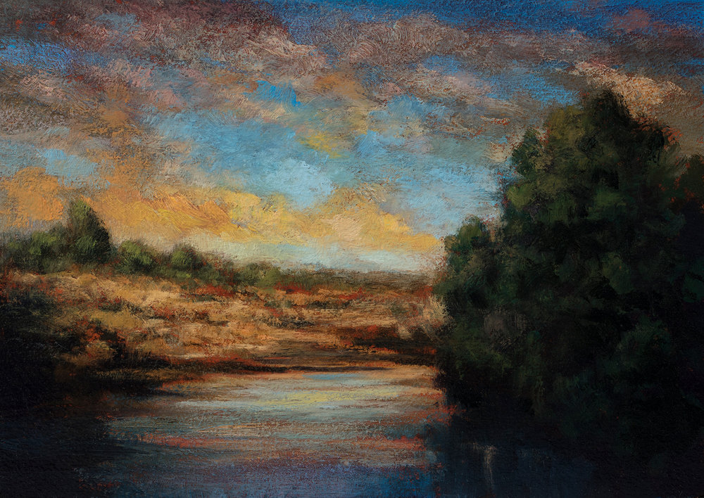 Morning before the Storm by M Francis McCarthy - 5x7 Oil on Wood Panel
