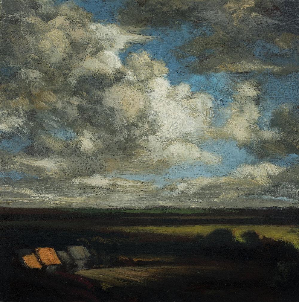 Study after Jacob van Ruisdael View of Haarlem by M Francis McCarthy - 5x5 Oil on Wood Panel