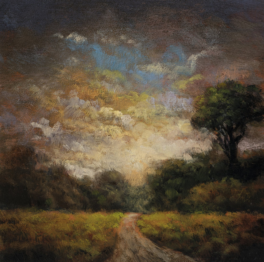 Prelude to Evening by M Francis McCarthy - 5x5 Oil on Wood Panel