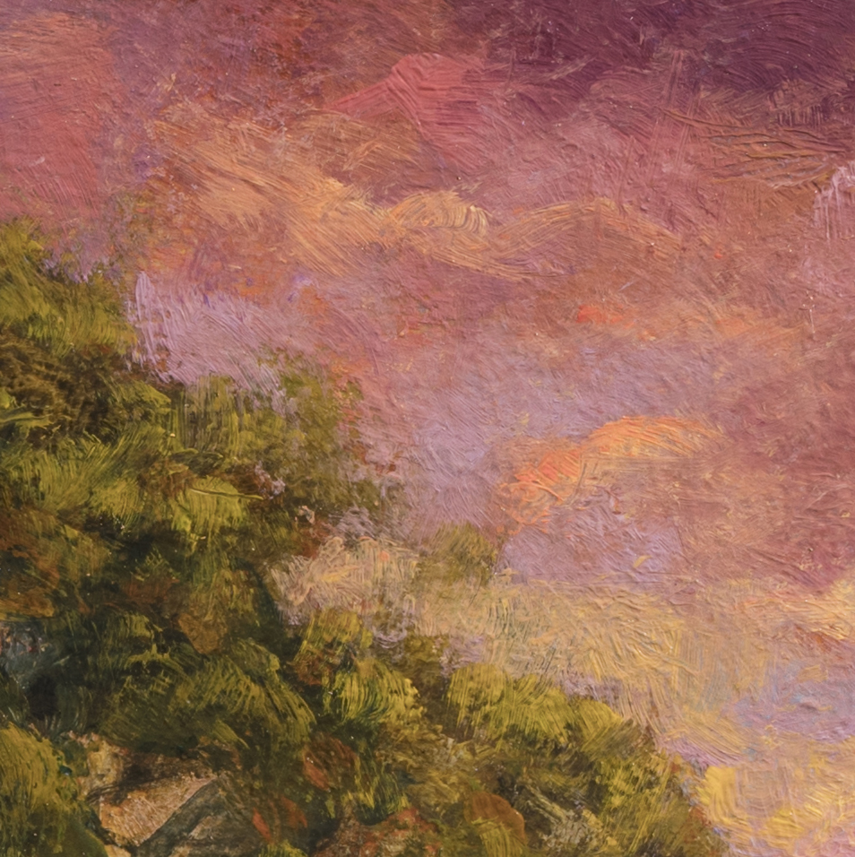 Afternoon Glow by M Francis McCarthy - 8x8 (Detail)