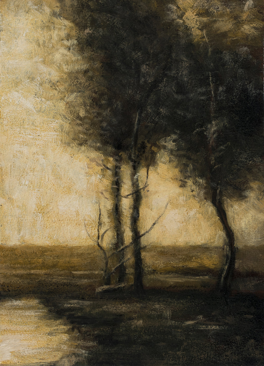 Study after: John Francis Murphy - Landscape by M Francis McCarthy - 5x7 Oil on Wood Panel