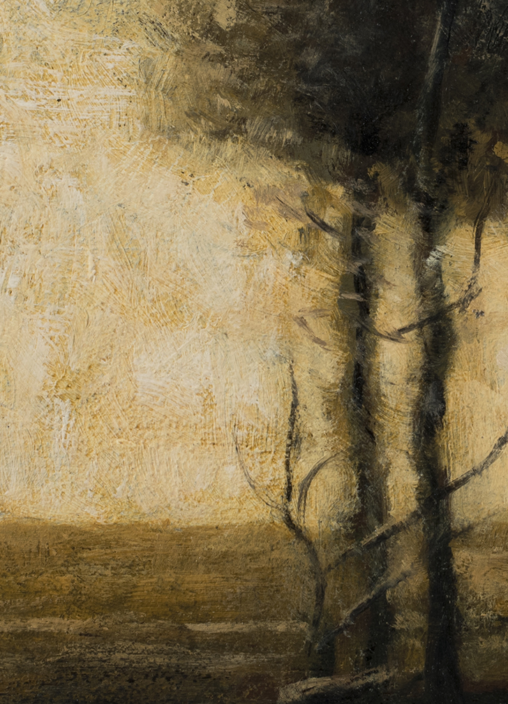 Study after: John Francis Murphy - Landscape by M Francis McCarthy - 5x7 (Detail)