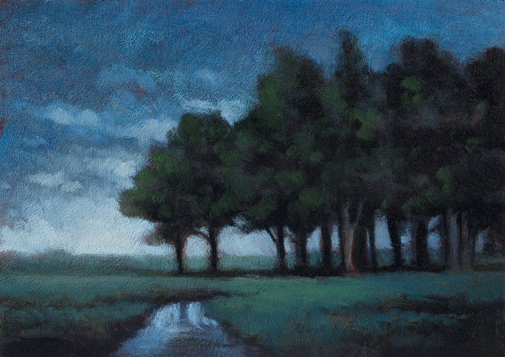 Spring Field by M Francis McCarthy - 5x7 Oil on Wood Panel