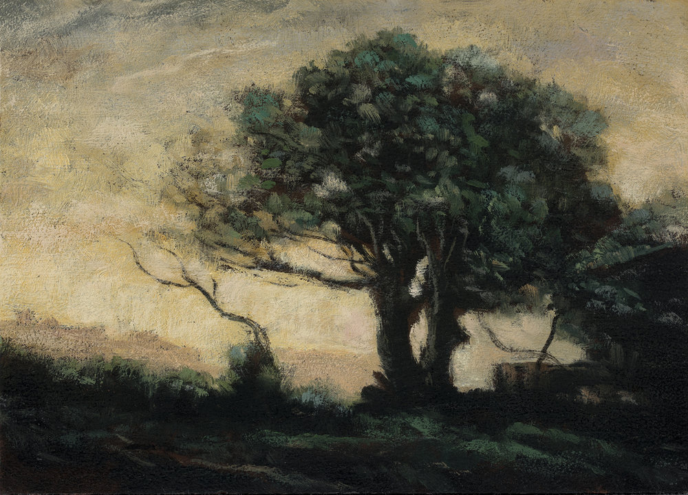 Study after: Camile Corot - Castel Gandolfo by M Francis McCarthy - 5x7 Oil on Wood Panel