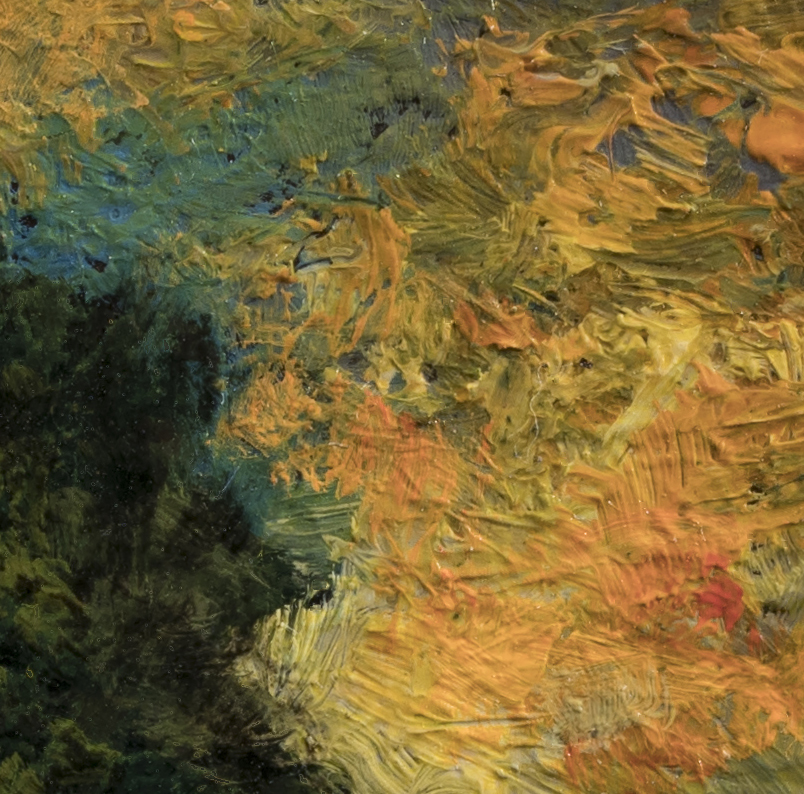 Tree on a Hill by M Francis McCarthy - 3½x3½ (Detail 2)
