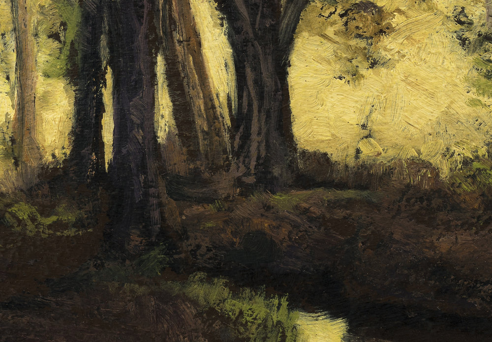 Evening Light by M Francis McCarthy - 7x10 (Detail)