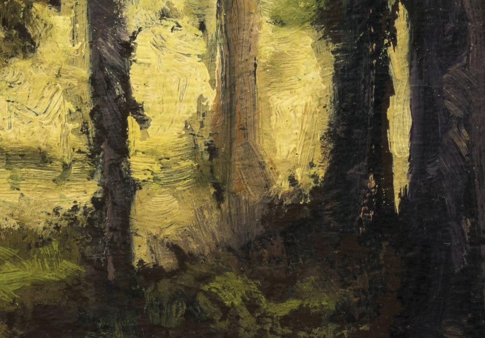 Evening Light by M Francis McCarthy - 7x10 (Detail 2)