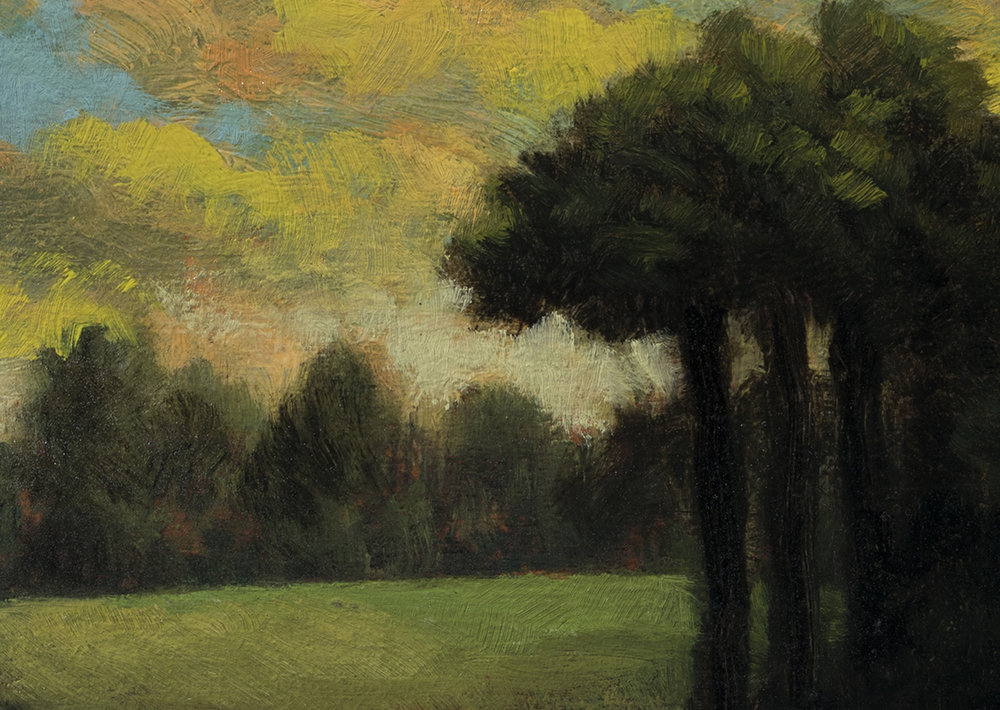 Storm Above the Meadow by M Francis McCarthy - 5x7 (Detail)
