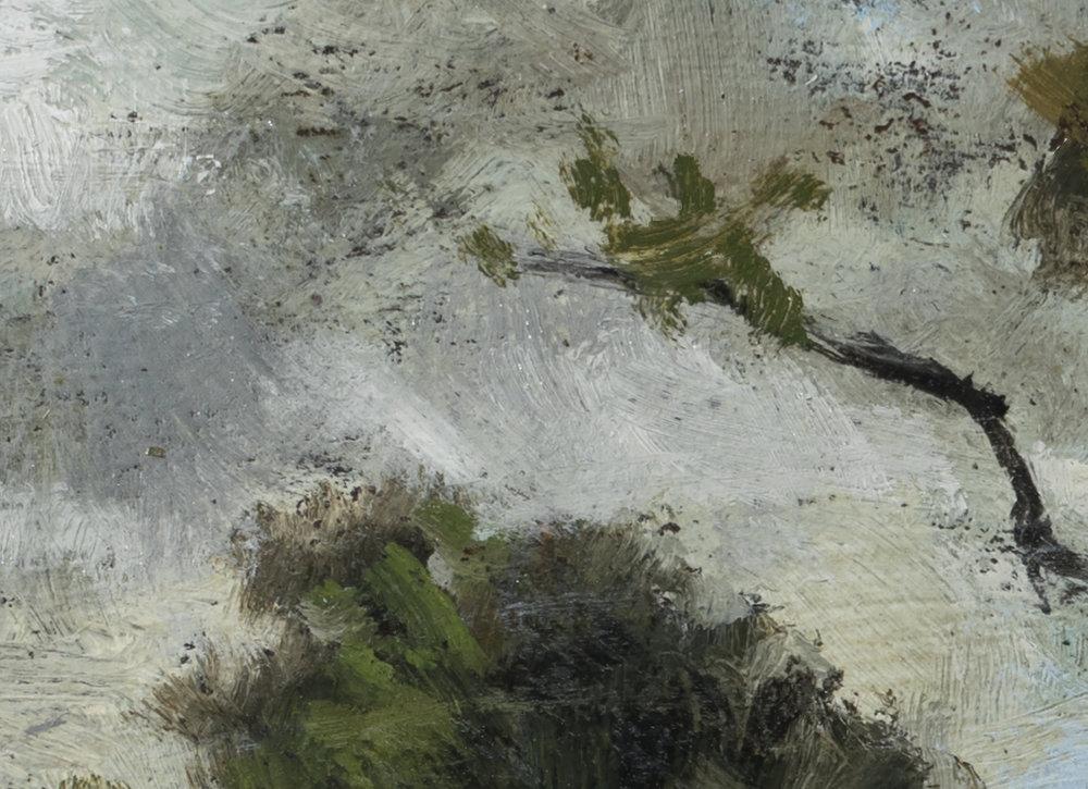 Study after: Leon Richet Foret de Fontainebleau by M Francis McCarthy - 5x7 (Detail 2)