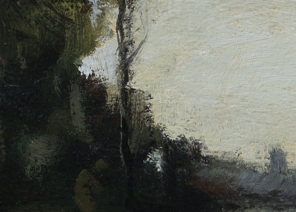 Study after: Camille Corot River with a Distant Tower - 5x7 (Detail 2)