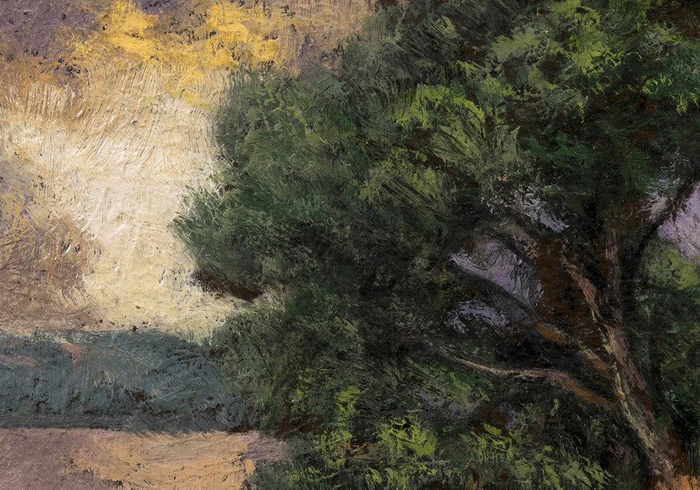 Lakeside Path by M Francis McCarthy - 3½x5 (Detail)