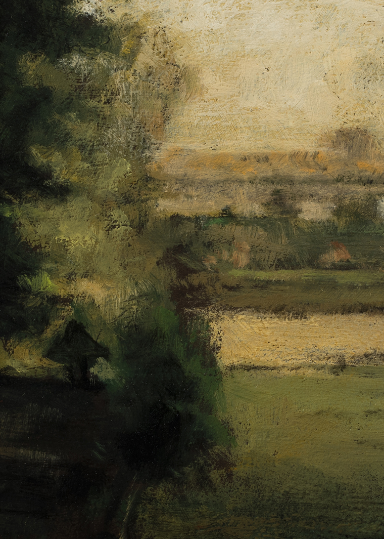 Study after:  George Inness Scene at Durham by M Francis McCarthy - 5x7 (Detail)