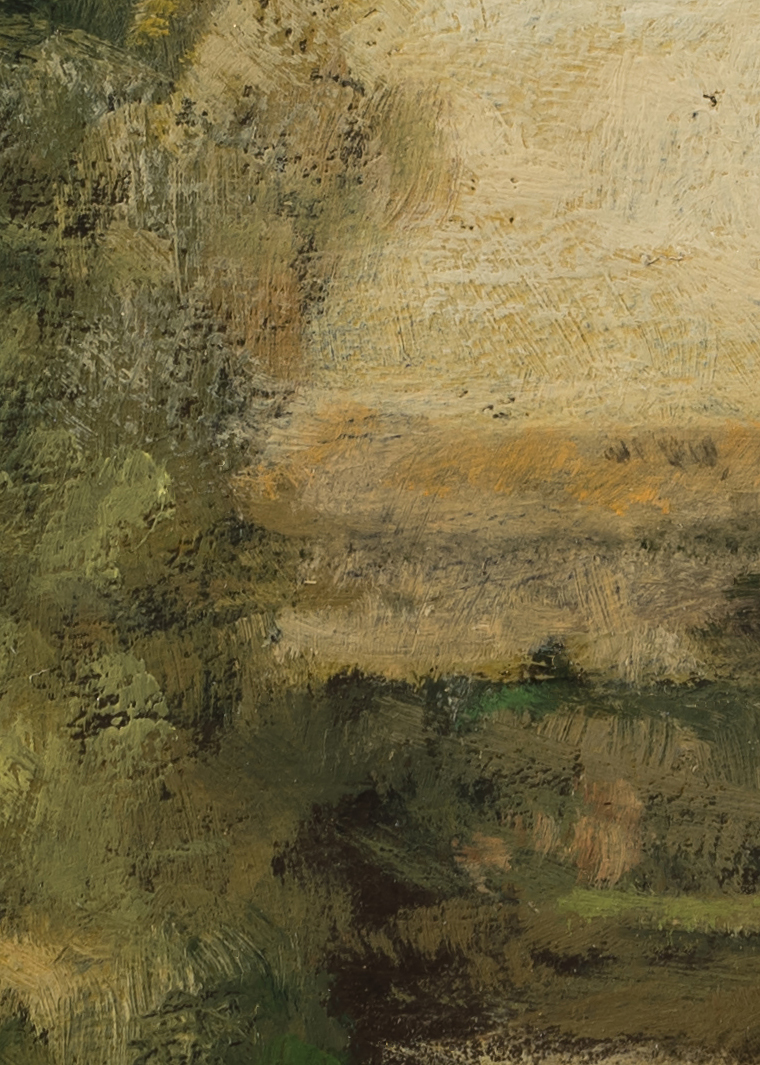 Study after:  George Inness Scene at Durham by M Francis McCarthy - 5x7 (Detail 2)