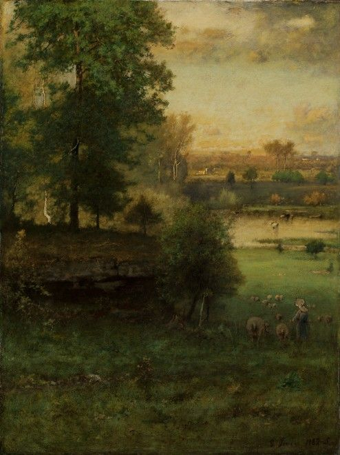 Original Image George Inness Scene at Durham