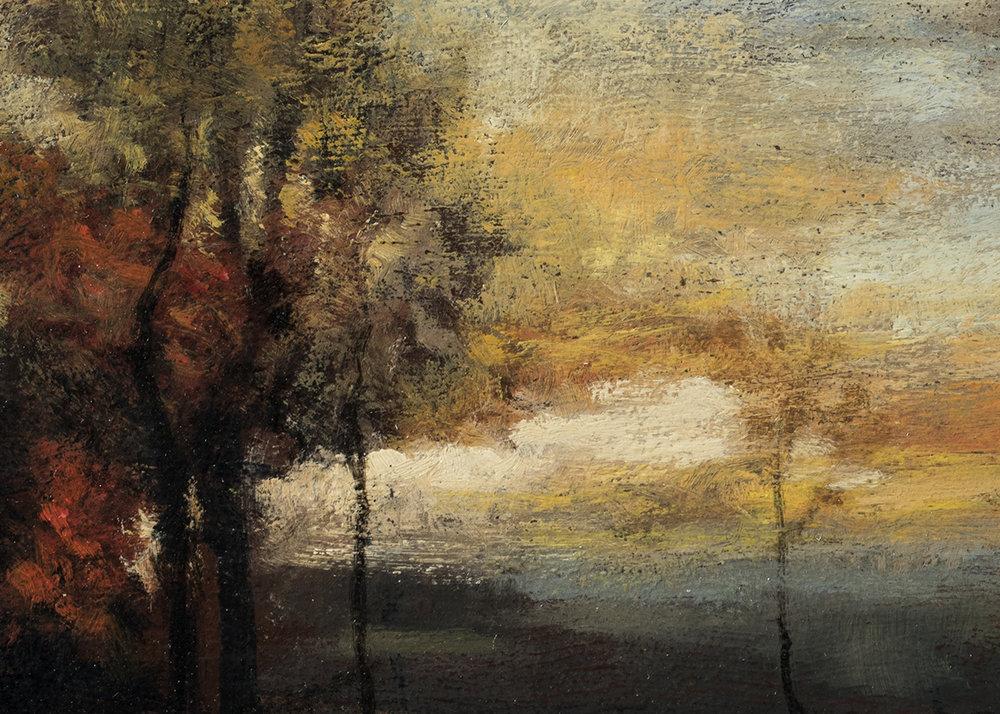 John Francis Murphy Landscape by M Francis McCarthy - 5x7 (Detail)