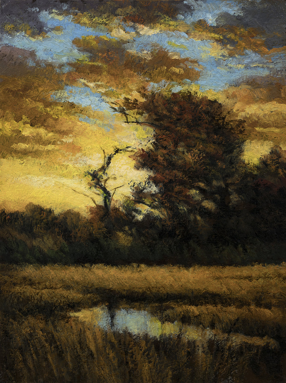 The Gloaming by M Francis McCarthy - 6x8 Oil on Wood Panel