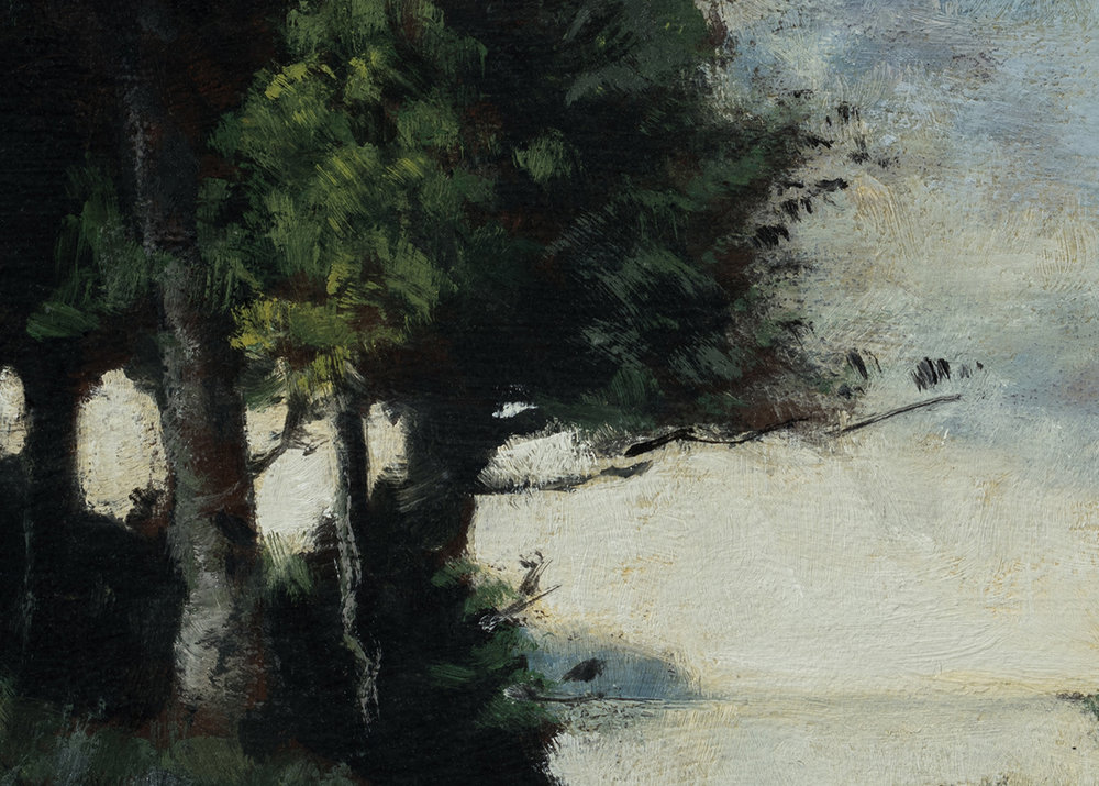 Study after: Paul Trouillebert Shoring the Fishing Boat by M Francis McCarthy - 5x7 (Detail)