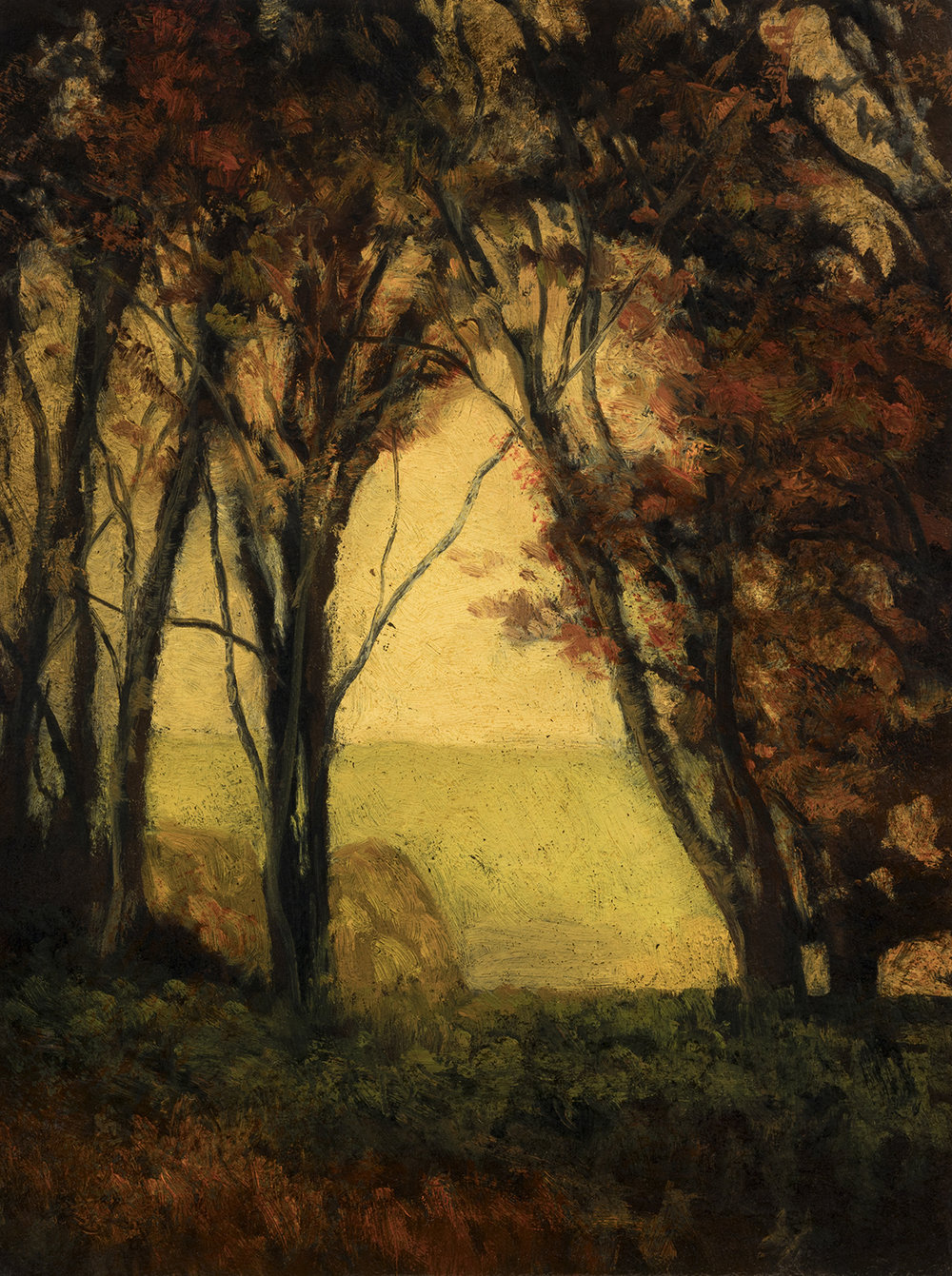 Autumn Forest by M Francis McCarthy - 6x8 Oil on Wood Panel