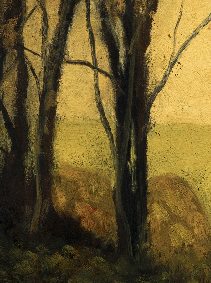 Autumn Forest by M Francis McCarthy - 6x8 (Detail)