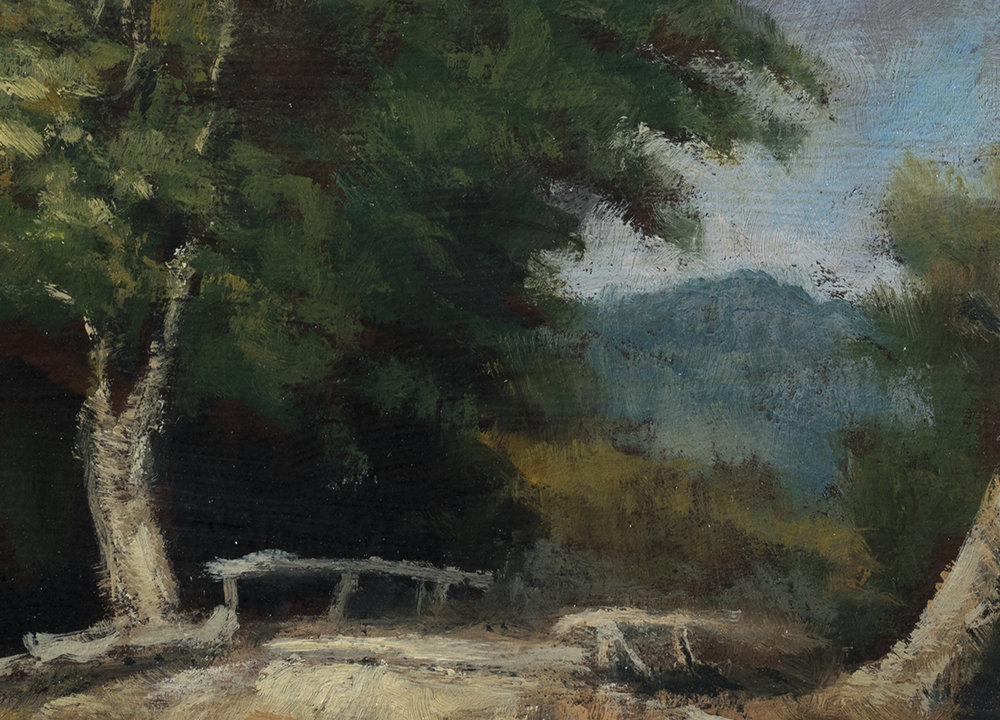 Study after: George Inness Landscape  by M Francis McCarthy - 5x7 (Detail)