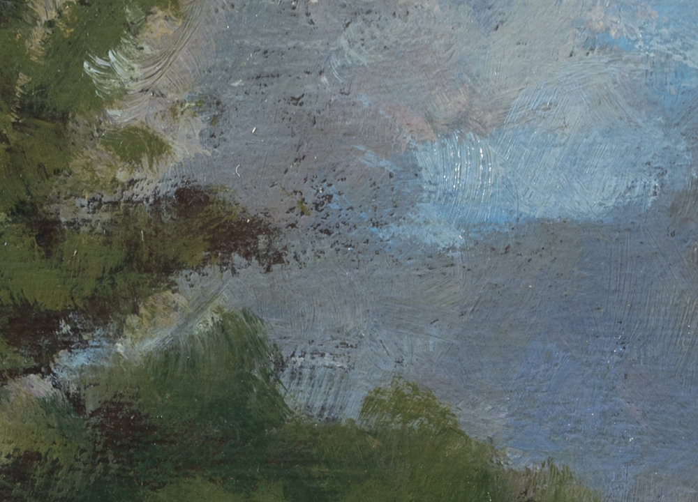Study after: George Inness Landscape  by M Francis McCarthy - 5x7 (Detail) 2