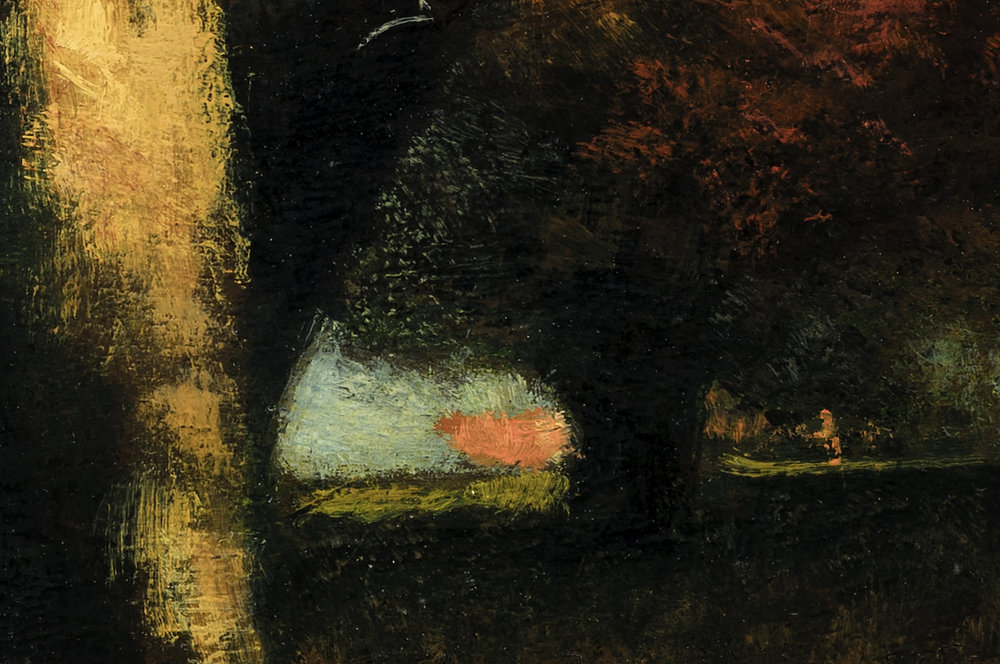 Study after: George Inness Autumn Montclair by M Francis McCarthy - 8x12 (Detail 2)
