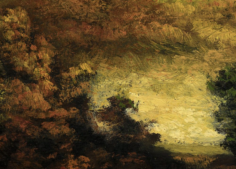 Study after: Ralph Albert Blakelock A Mountain Road by M Francis McCarthy - 5x7 (Detail)