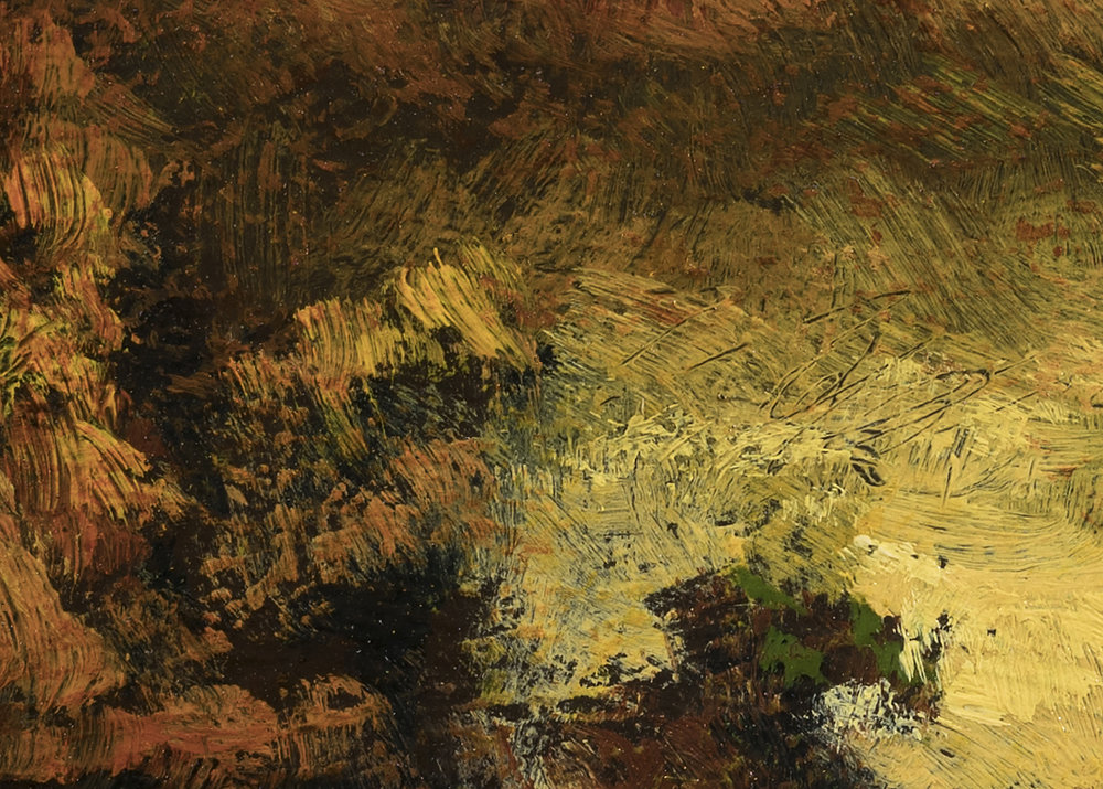 Study after: Ralph Albert Blakelock A Mountain Road by M Francis McCarthy - 5x7 (Detail 2)