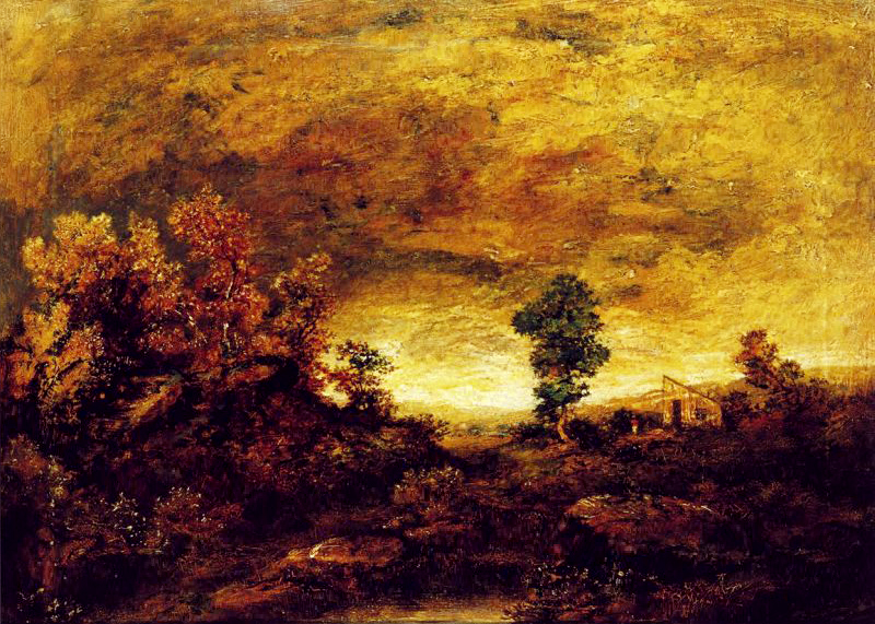 Ralph Albert Blakelock A Mountain Road (Original)