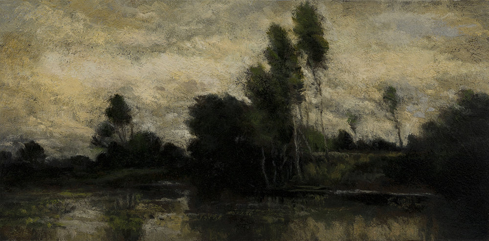 Study after: Jules Dupre - Landscape by M Francis McCarthy - 5x10 Oil on Wood Panel